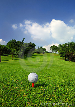 Free Golf Course Royalty Free Stock Image - 5529466