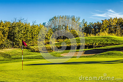 Golf Course in Autumn