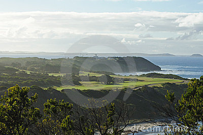 Golf course on beach