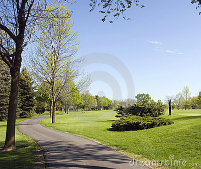 Golf Course Cart Path