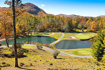 Golf Course in the Cashiers, North Carolina