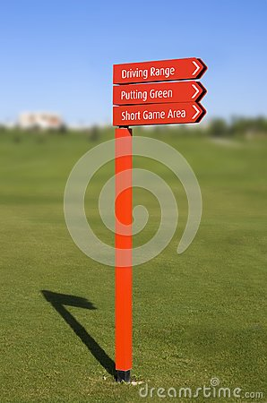 Golf course direction signs