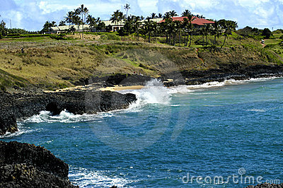 Golf Course on Edge of Ocean
