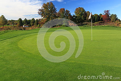 Golf Course with Flag