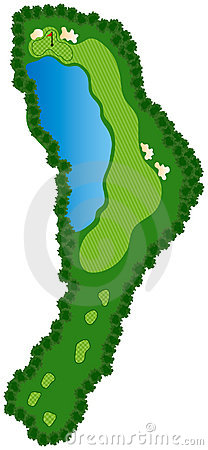 Free Golf Course Hole Royalty Free Stock Photography - 5412827