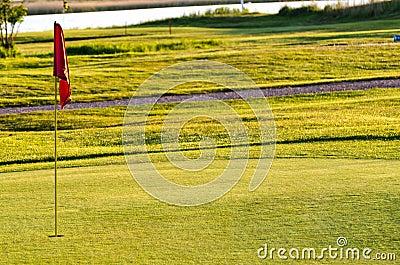 Golf course hole flag