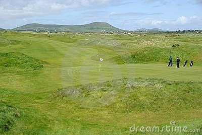 Golf course in Ireland