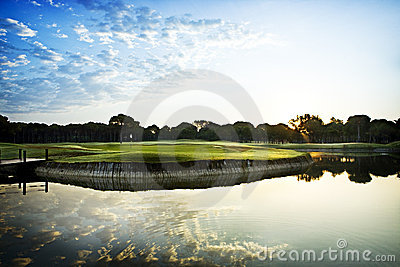 Golf course and lake
