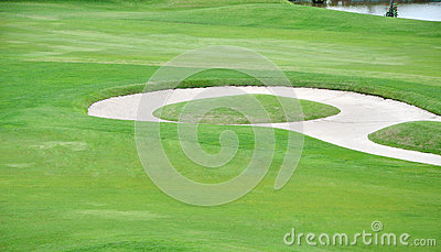 Golf course landscape background