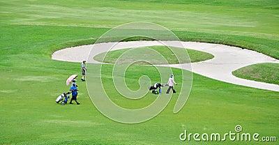 Golf course landscape Editorial Stock Image