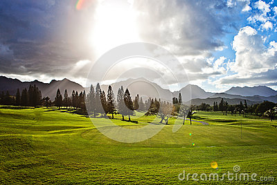 Golf course in Oahu, Hawaii