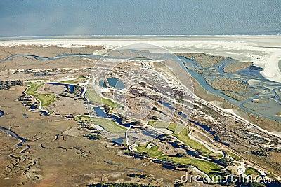 Golf course on the ocean