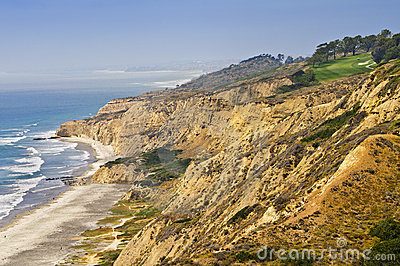 Golf Course on Ocean Cliffs, California