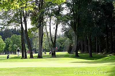 Golf Course with Players