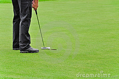 Golf, dat in gat de bal zet