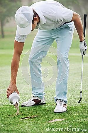 Golf divot sand