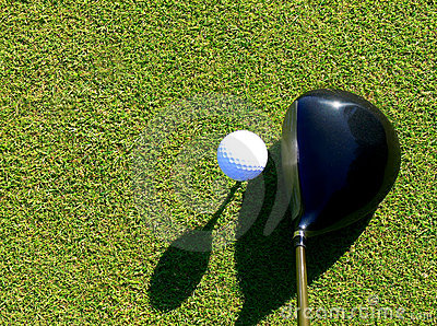Golf - Driver and Ball