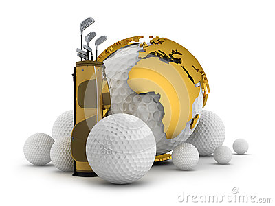 Golf equipment - concept illustration