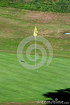 Golf flagpole, Costa del Sol, Spain.