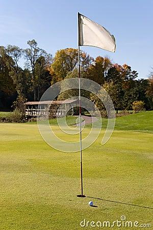 Golf för 02 flagga