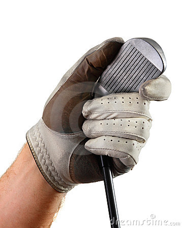 Golf glove hand club grooves