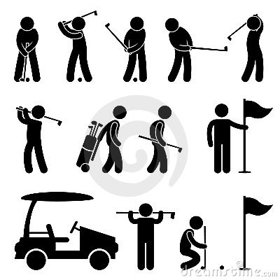 Free Golf Golfer Swing People Caddy Royalty Free Stock Image - 22112266