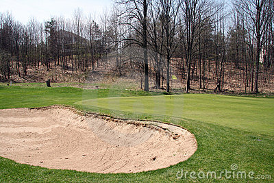 Golf Green and Bunker