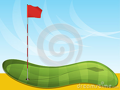 Golf Green and Flag