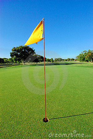 Free Golf Green With Flag Stock Photos - 2158263