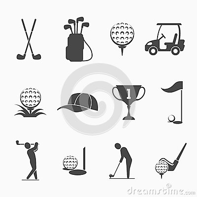 Free Golf Icon Set Stock Image - 56099301