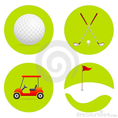 Free Golf Icons Stock Images - 19395914