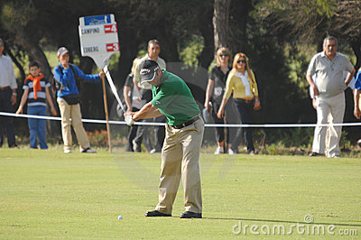 Golf - Nuno CAMPINO, POR Editorial Image