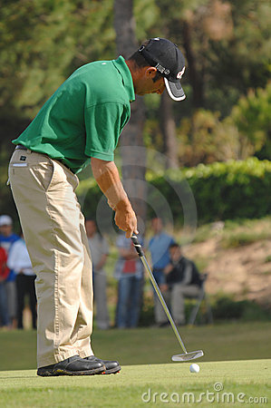 Golf - Nuno CAMPINO, POR Foto de archivo editorial