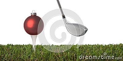 Golf ornament