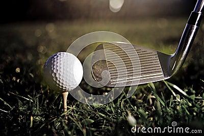 Golf play vintage