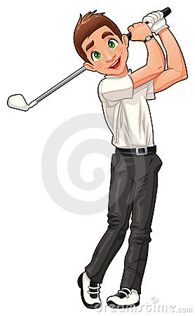 Golf player.