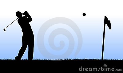 Golf player performing a launch
