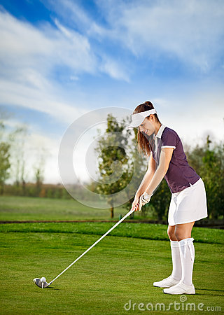 Golf player woman