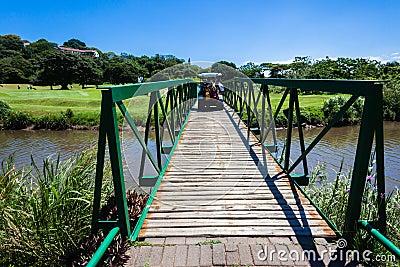 Golf Players Cart Bridge Editorial Stock Image