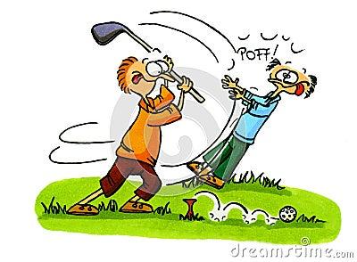 Golf players - Golf Cartoons Series Number 3