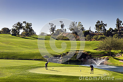 Golf-Praxis-Grün
