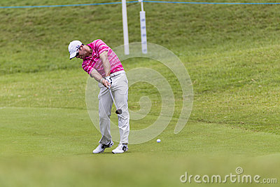 Golf Pro Casey Swing Editorial Photography