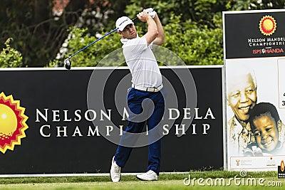 Golf Pro Drive Swing Editorial Stock Image
