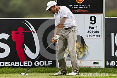 Golf Pro Garrido Drivng Ball Editorial Stock Photo