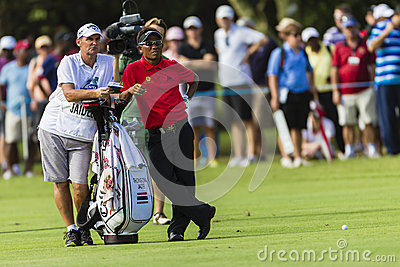 Golf Pro Jaidee Caddy Editorial Stock Image