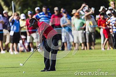 Golf Pro Jaidee Iron Swing Editorial Stock Photo