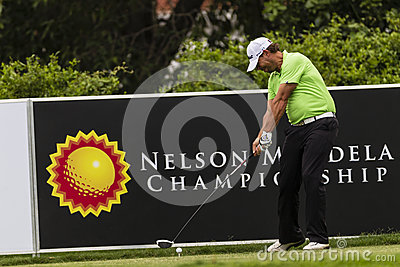 Golf Pro Lundberg Drivng Ball Editorial Stock Photo