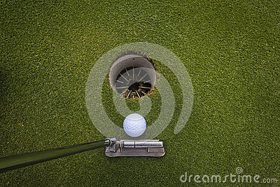 Golf Putt Ball Hole