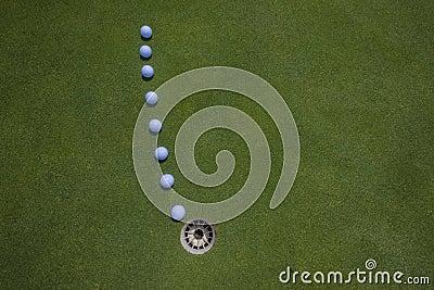 Golf Putt Balls Hole