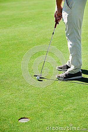 Free Golf Putt Green Royalty Free Stock Photo - 40579745